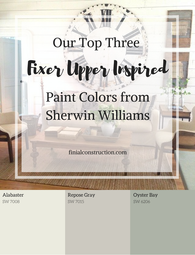 Fixer Upper Inspired Paint Colors